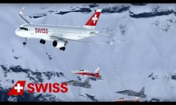 SWISS Airbus A321 and Patrouille Suisse