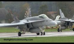 F/A-18 Strafing Training at Axalp