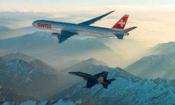 First landing of SWISS Boeing 777-300ER (Swiss Air Force Version)